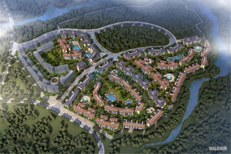 景业白鹭洲-建筑鸟瞰图