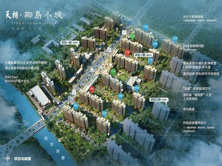 椰岛小城-项目鸟瞰图